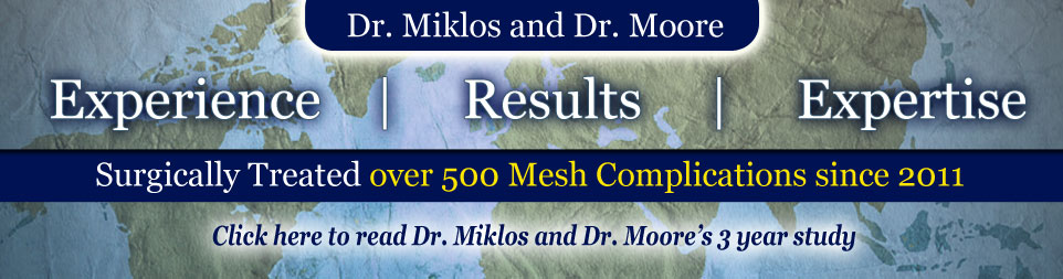 Surgically Treated over 400 Mesh Complications in 2012